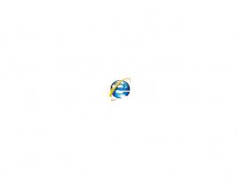 Děravý Internet Explorer 7 logo