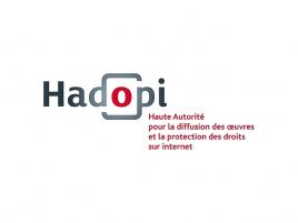 Dřívější HADOPI logo s neoprávněně užitým fontem Bonjour