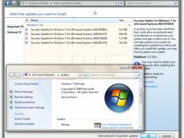 Windows Update na Windows 7 SP1 ve druhé polovině února 2011