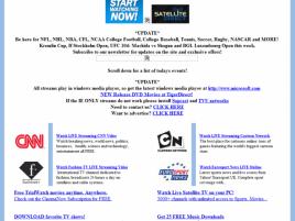 Channelsurfing.net, snímek z října 2009, zdroj waybackmachine.org