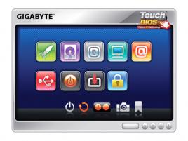 Gigabyte TouchBIOS - základní obrazovka