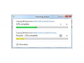 Kopírování ve Windows 8 - pozastavení jednoho