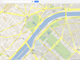 Google Maps - Paříž (Francie)