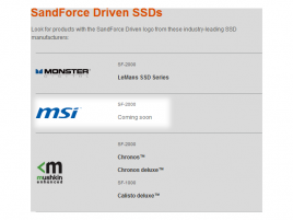 SandForce Driven SSD - MSI