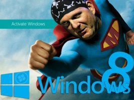 Steve Ballmer as Superman (Windows 8)