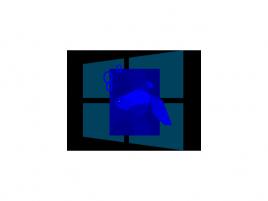 Windows 8 Blue - ilustrační obrázek