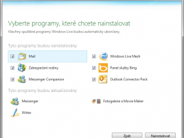 Microsoft Windows Live Essentials 2011 CZ instalace