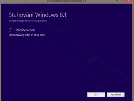 Instalátor Windows 8.1 - stahování