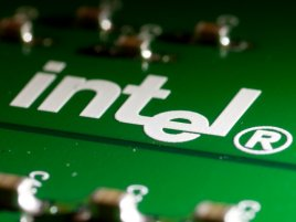 Intel Logo On Pcb