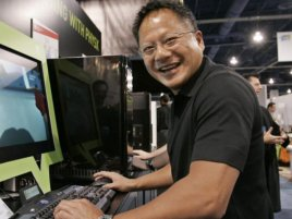 Jen Hsun Huang With Physx