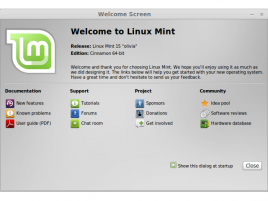 Linux Mint 15 - mintwelcome