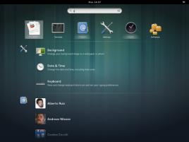GNOME 3.8 - search