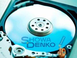 Showa Denko logo na HDD