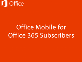 Microsoft Office Mobile for Office 365 - Obrázek 1