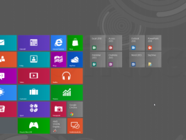 Windows 8 Start Screen - ikony Office 2013